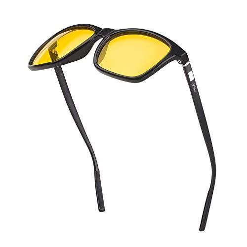 (Night Driving Anti Glare Polarized Glasses for Men Women Rainy Safe HD Night Vision HOT Fashion)