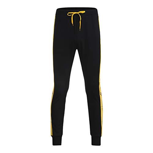 Survêtement Toute Bellelove Casual Taille Long Jaune Homme Longueur Jogging Patchwork La De Pantalon Automne Hiver Legging Pour Cordon Basse pwOqHC46f