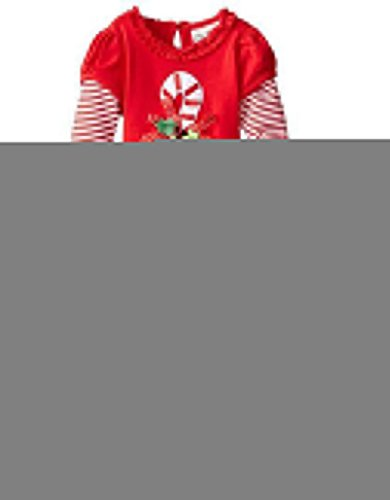 Baby Baby Girls Christmas Candy Cane Dress Top Legging Set130#1-2Years Red (Candy Cane Outfit)