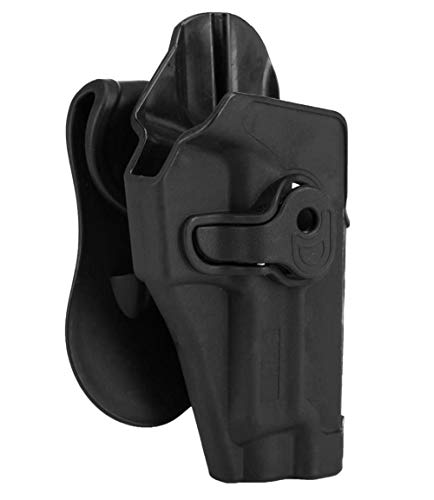 JFFCESTORE Tactical Holsters Trigger Release Paddle Holsters Tactical 360 Degrees Adjustable Right-Handed for SIG SAUER P220 P225 P226 P228 P229 NP22 NORINCO (Black)