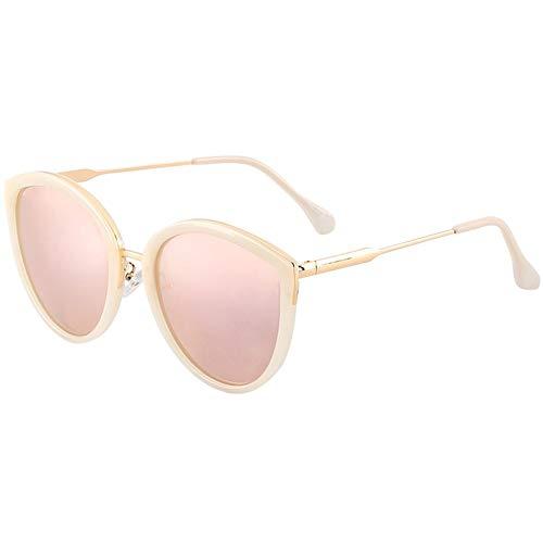 de ojo de rosadas las grande sol sol NIFG gato de de gafas Gafas caja la ULTRAVIOLETA de las señoras de del Xz6WB1Z