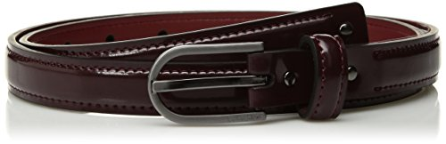 Stud Skinny Belt (Calvin Klein Men's Skinny Patent Leather Dress Belt With Studs, plum brushed gunmetal, Medium)