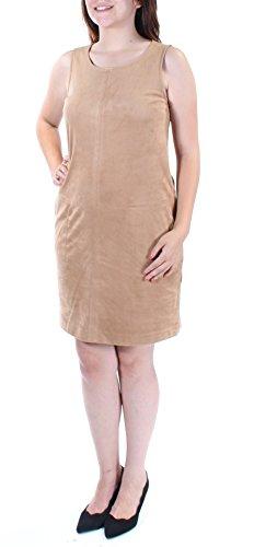 Maison Jules Women's Faux-Suede Shift Dress (Ginger Crisp, Small) (Ginger Crisp)