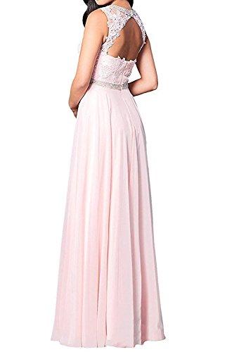 Promkleider Abendkleider Braut Herrlich mia Ballkleider Lang Abschlussballkleider Spitze La mit Rosa Schwarz Brautmutterkleider X60pWx
