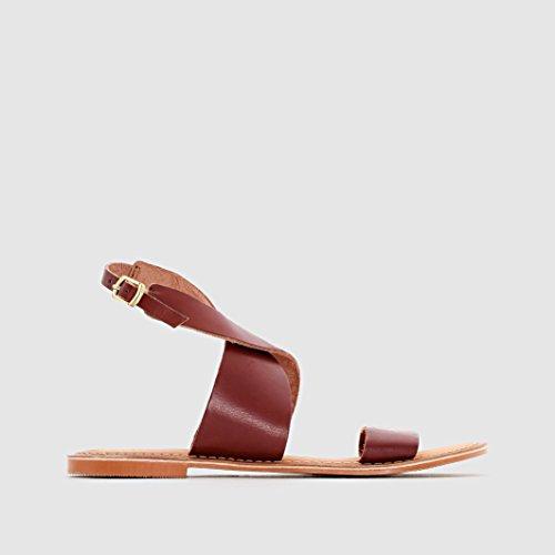 Vero Moda Brown Flat Sandals by Brown