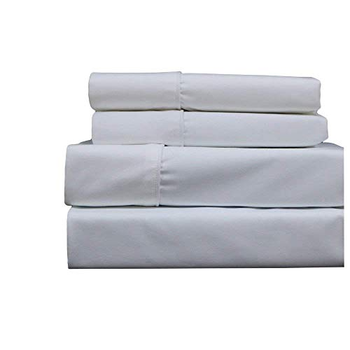 Split-King: Adjustable King Size White Cotton-Blend Wrinkle-
