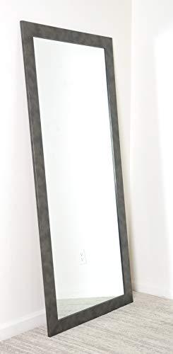 BrandtWorks Clouded Gunmetal Floor Tall Vanity Wall Mirror, 32