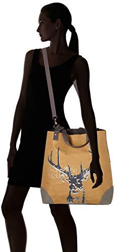 Cartera Braun Leder Mujer Wild Adelheid X Veganes w H 10x45x40 Einkaufstasche Cm D Schön papierbraun YH0xxZw