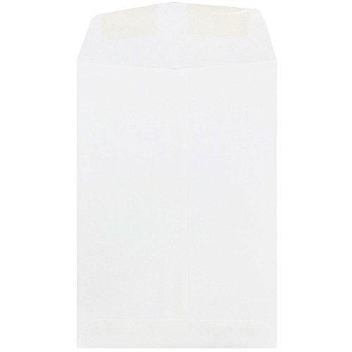 """JAM Paper 7"""" x 10"""" Open End Envelopes - White - 25/pack"""