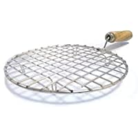 Darzee Chapati Toast Grill with Wooden Handle Barbecue (Steel)