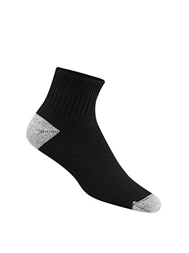 Wigwam Unisex Diabetic Sport Quarter Black Socks LG (Men's Shoe 9-12, Women's Shoe 10-13)