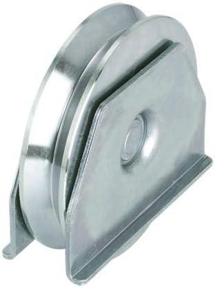 Polea con soporte diametro 100 mm, puerta correderas, rueda canal ...