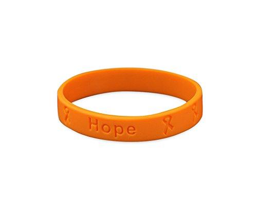 Multiple Sclerosis Orange Silicone Bracelet (1 Bracelet - Retail) ()