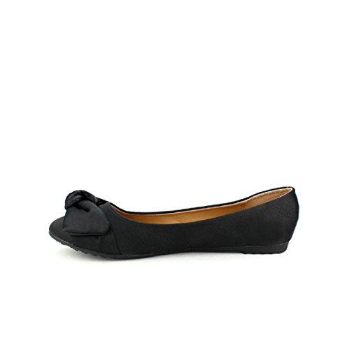 Cuir Chaussures Simili CINKS Femme Ballerine Cendriyon Noire wF6ttH
