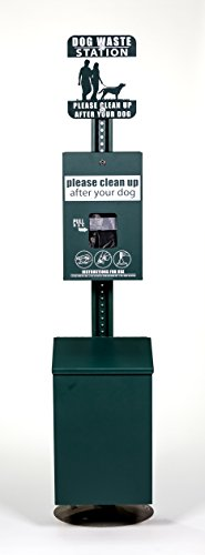 - ZW USA Inc Dog Waste Station -Free 400 Waste Bags and 50 can Liners -ONEPul - Square Can - D022