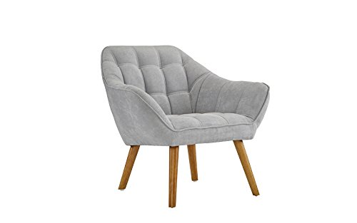Accent Chair For Living Room Linen Arm Chair With Tufted