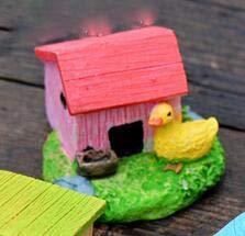 STORE-DECORATIVE - Animal House Figures Miniature Figurine for mini fairy garden Aquarium fish tank animal statue resin craft TNB047 by STORE★DECORATIVE★ (Image #7)