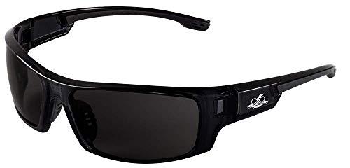 Safety Glasses, Bullhead Safety Eyewear BH943AF Dorado Safety Glasses with Dark Smoke Lenses, Crystal Black Frames, 1 Pair