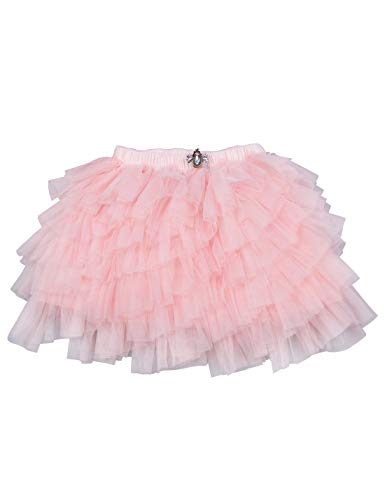 Baby Girls Irregular Tutu Skirt Princess Ballet Dance Fluffy Tulle Tiered Pettiskirt Peach 3-4T -