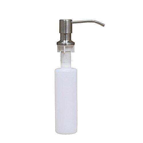 - OWIKAR Build-in Kitchen Sink Soap Dispenser, Stainless Steel Head Kitchen In-Sink Liquid Soap Dispenser 13-Ounce Capacity Lotion Pump Plastic Bottle
