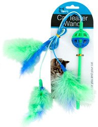 Tiny's Cat Teaser Wand with Feathers