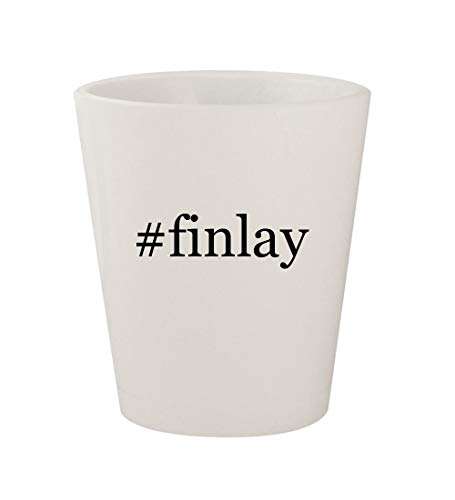 Price comparison product image #finlay - Ceramic White Hashtag 1.5oz Shot Glass