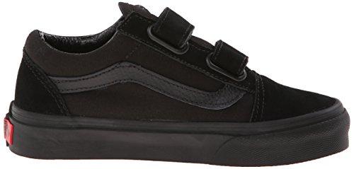 Vans K Old Skool V Vvhe6Bt, Baskets mode mixte enfant Noir (Blk/Blk)