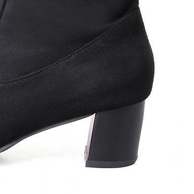 Deutsches Elektronen-Synchrotron Damen Stiefel Komfort Neuheit Fashion Stiefel Spring Winter-Casual Büro & Karriere Polka Dot geschoben Ferse blau rot schwarz 1-
