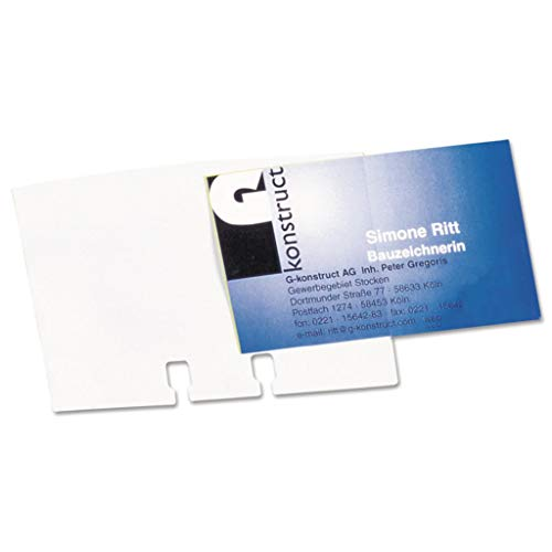 (DBL241819 - Capacity : 80 Cards - Durable VISIFIX Business Card Sleeves - Pack of 40)