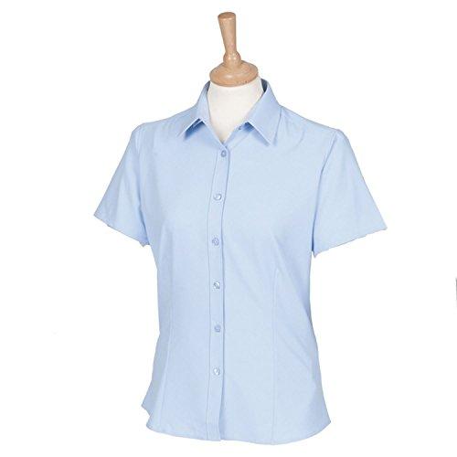 Henbury Damen Short Sleeve Wicking Shirt H596hellblau XL/16