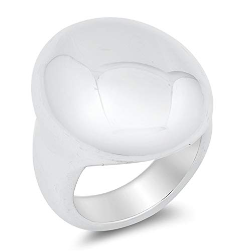 Princess Kylie Oxidized Sterling Silver Oval Electroform Ring Size 7