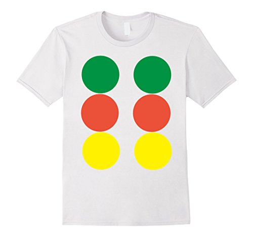 Twister Costume Couples (Mens Twister Game Halloween Group Costume TShirts Matching Medium White)