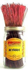 1 X Myrrh - 100 Wildberry Incense Sticks