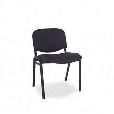 Alera SC67FA10B Continental Series Stacking Chairs, Black Fabric Upholstery, 4/Carton