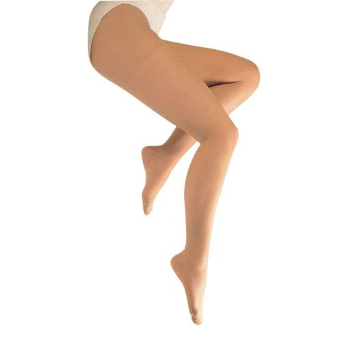 Blue Jay Sheer Support Medical Legwear in Beige – 15-20mmHg, Tall Closed Toe Pantyhose, Firm Support Compression Legwear