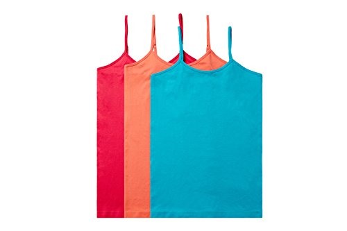 Ruxia Womens Basic Cami Tanks with Adjustable Spaghetti Strap Assorted Colors Pack of 3