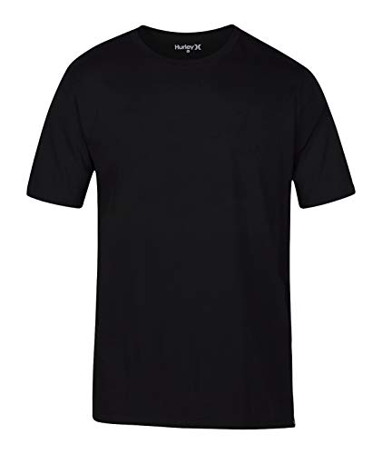 (Hurley Men's Premium Cotton Staple Short Sleeve Tee Shirt, Black,)