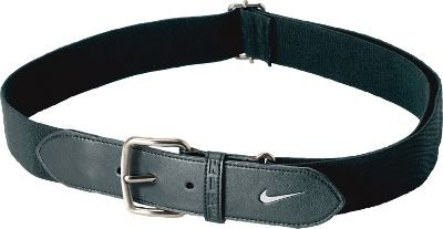9f31002d86ba9e Amazon.com: Nike Youth Baseball Belt (Black/White, OSFM): Sports ...