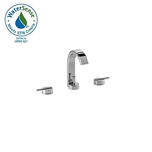 Jado 831/003/355 Glance Widespread Lavatory Faucet, UltraSteel - 12' Widespread Lavatory