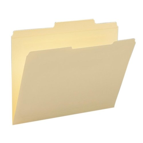 Wholesale CASE of 10 - Smead Guide Height 2/5 Cut Recycled File Folders-File Folder,2/5 Right of Center,Tab Cut,2 Ply,Letter,Manila