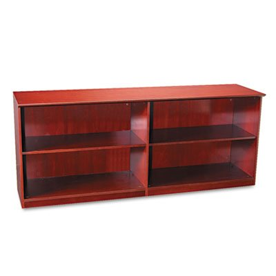 Veneer Low Wall Cabinet without Doors, 72w x 19d x 29-1/2h, Sierra Cherry, Sold as 1 (Corsica Low Wall Cabinet)