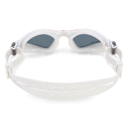 Aqua Sphere Kayenne Ladies Swimming Goggles Smoke Lens, White & Coral UV Protection Anti Fog Swim Goggles for Women by Aqua Sphere (Image #2)