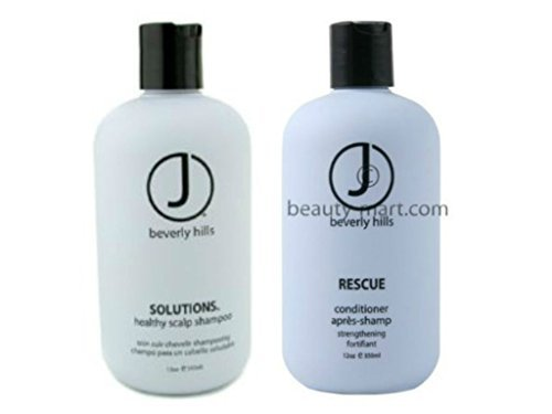 J Beverly Hills Solutions Shampoo 12 oz + Rescue Conditioner 12 oz