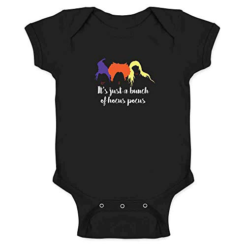 Pop Threads It's Just A Bunch of Hocus Pocus Halloween Costume Black 6M Infant Bodysuit ()