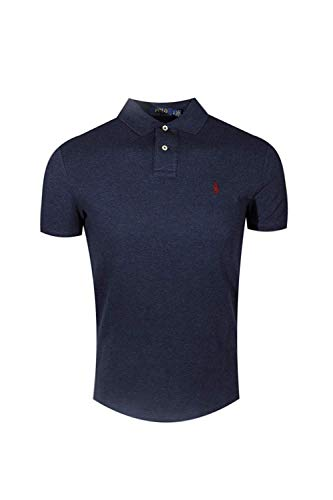 - Polo Ralph Lauren Mens Classic Mesh Polo Shirt (XL, Navy Heather)