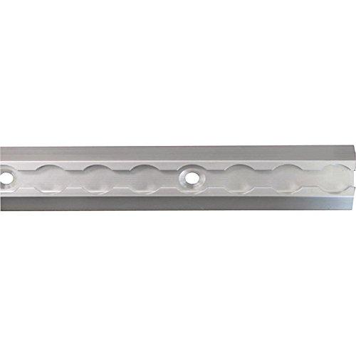 Boxer Aluminum L-Track Ultimate Tracks - 4-Pk., 6in.L x 1.75in.W, 2,200-Lb. Breaking Strength, Silver, Model# 31026