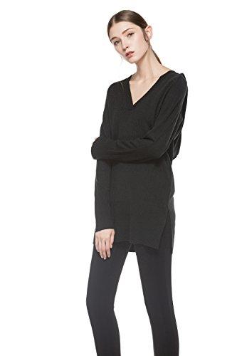 Knitbest Damen Kapuzenpullover Gr. 38, schwarz