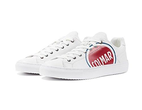 COLMAR Bradbury Logo 234 White/Logo Schuhe Regular Bianco