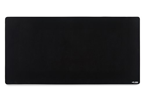 - Glorious 3XL Extended Gaming Mouse Mat/Pad - Large, Wide (XLarge) Black Cloth Mousepad, Stitched Edges | 48x24