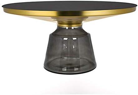 Nieuw ZRRtables salontafel gehard glas voor woonkamer, Scandinavië sofa tafel creatieve retro cocktailtafel duurzame bijzettafel met metalen frame, grijs  joubLVB
